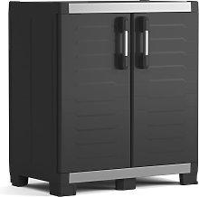 Keter Low Storage Cabinet Garage XL Black and