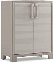 Keter Low Storage Cabinet Gulliver Beige and Brown