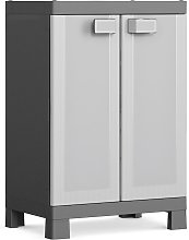 Keter Low Storage Cabinet Logico Black and Grey 97