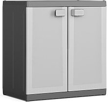 Keter Low Storage Cabinet Logico XL Black and Grey