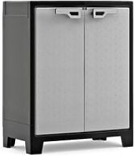 Keter Low Storage Cabinet Titan Black and Grey 100