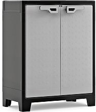 Keter Low Storage Cabinet Titan Black and Grey 100