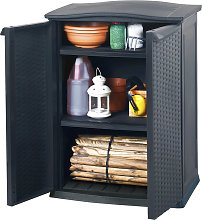 Keter Mini Patio Shed Rattan Anthracite 184735