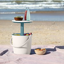 Keter Table Cooler Go Bar White and Ocean Blue