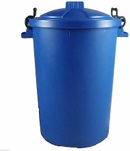 Keto Plastics BLUE OUTDOOR PLASTIC WASTE BIN,