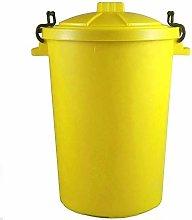 Keto Plastics YELLOW OUTDOOR PLASTIC WASTE BIN,
