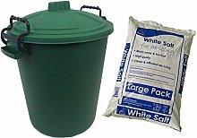 Ketoplastics 50L Coloured grit bin with 10kg Rock