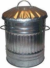 KetoPlastics Galvanised Metal Rubbish Bin, trash
