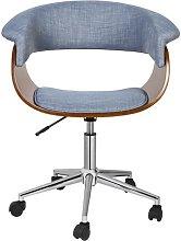 Kevon Task Chair Blue Elephant Upholstery Colour: