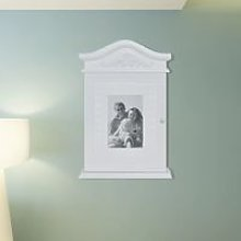 Key Cabinet with Photo Frame White VD08572 - Hommoo