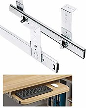 Keyboard Shelf Runners Adjustable Under Desk - 2
