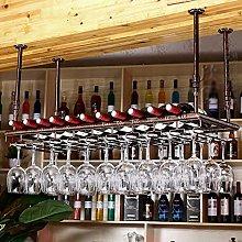KFDQ Bar Wine Rack, Hanging Upside Down Cup