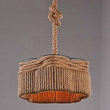 KFDQ Chandelier,Lighting Kitchen Hemp Rope