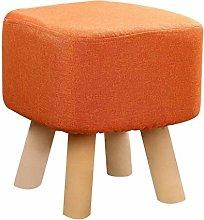KFDQ Novelty Household Stools,Solid Wood Footstool