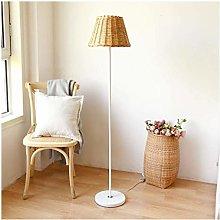 KFDQ Novelty Lamps,Floor Lamp Rattan Nordic
