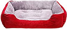 Kfhfhsdgsacww Pet Bed, Corduroy Rectangle Dog Bed