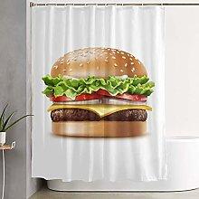 KGSPK Waterproof Polyester Shower Curtain,Food