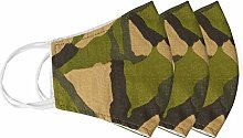 Khaki Army Green Camouflage Cloth Fabric Reusable