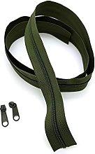Khaki Continuous Zip & Sliders No. 3 Zippers