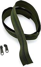 Khaki Continuous Zip & Sliders No. 5 Zippers