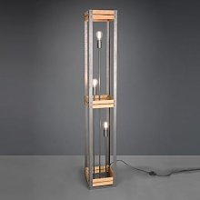 Khan floor lamp vintage style with wooden elements