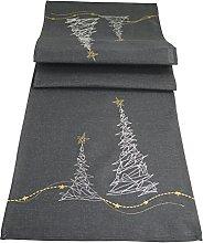 khevga Modern embroidered Christmas table runner