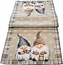 khevga Table Runner Christmas Gnome 140 x 40 cm