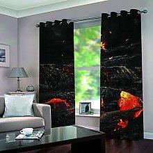 KHGAHD Blackout Curtain 3D Magma Curtain Thermal