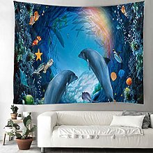 KHKJ Dolphinids Indian Mandala Tapestry Wall