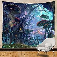 KHKJ Magic mushroom Tapestry Indian Mandala