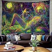 KHKJ Psychedelic tapestry Mandala Tapestry Wall