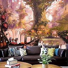 KHKJ Psychedelic Tree TapestryMandala Wall Hanging