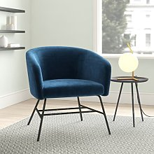 Kiara Tub Chair Hykkon Upholstery Colour: Navy Blue