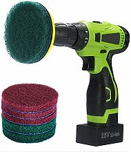 Kichwit 4 Inch Drill Power Scrubber Scouring Pads