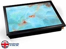 KICO Aqua Marble Print Cushioned Lap tray