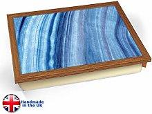 KICO Azul Marble Print Cushioned Lap tray