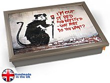 KICO Banksy Out of Bed Rat Cushioned Bean Bag