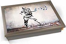 KICO Banksy Soldier Music Cushioned Bean Bag