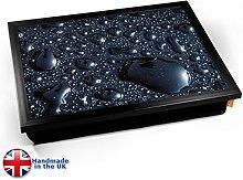 KICO Black Rain Cushioned Bean Bag Breakfast Bed