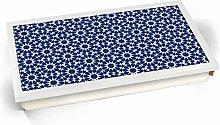 KICO Blue Moroccan Style Print Pattern 11