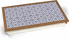 KICO Blue Moroccan Style Print Pattern 4 Cushioned