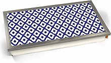 KICO Blue Moroccan Style Print Pattern 8 Cushioned