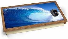 KICO Blue Wave Big Sea Cushioned Bean Bag Laptop