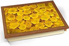 KICO Buttercups Yellow Flowers Cushioned Bean Bag