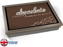 KICO Chocolate Typography Art Print Cushioned Bean