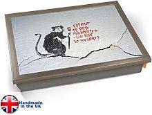 KICO CRACKED Banksy Bed Rat Graffiti Cushioned