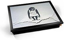 KICO CRACKED Banksy Chimp Graffiti Cushioned Bean
