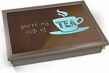 KICO Cup of Tea Typography Art Print Cushioned