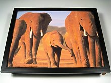 KICO Elephants Family Animal Africa Cushioned Bean