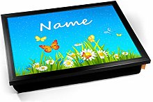 KICO Flowers Personalised Childrens Name Cushioned